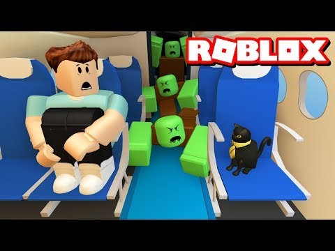 ZOMBIES ON A PLANE!! | Roblox Adventures