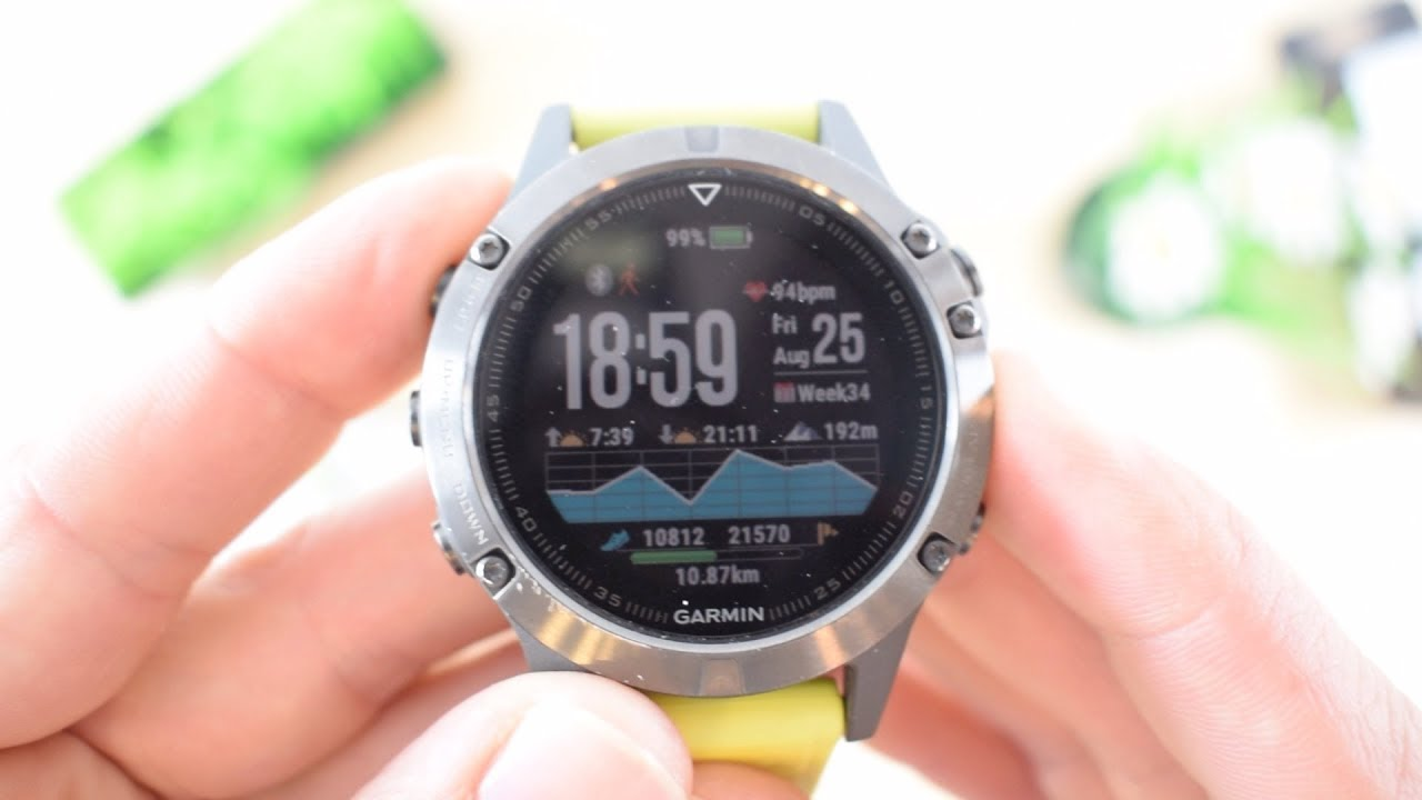 Review Garmin Fenix 5 Activity Tracker Pantallas 1 De 4 Youtube