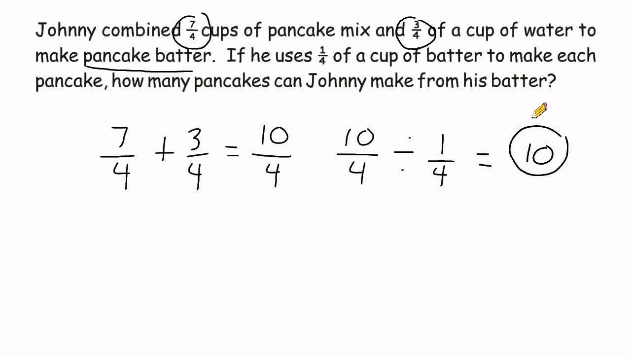 problem solving in fractions with answer