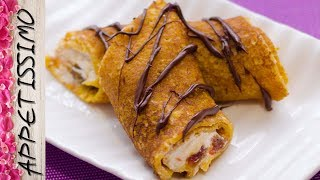 Блины из тыквы с творожной начинкой / Pumpkin Pancakes Stuffed with Cottage Cheese