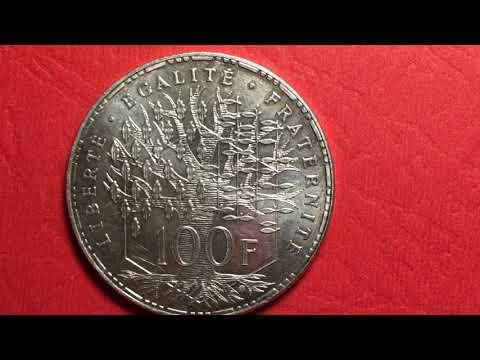 1983 France 100 Franc Coin - Valuable 90% Silver - Republique Francaise