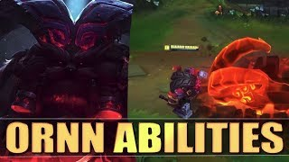 ORNN ABILITIES SPOTLIGHT GAMEPLAY - League of Legends New Champion