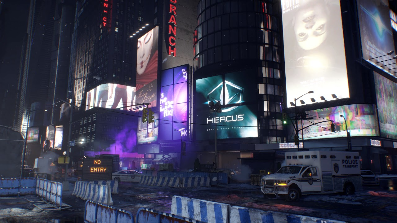 Time Square - (The Division) - [Ambient Video] 4K