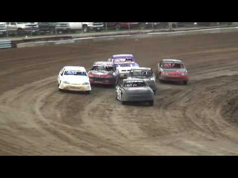 IMCA Stock Car Heats 1-2 Independence Motor Speedway 7/22/17
