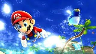 🌴☀🏊 Super Mario Galaxy Gameplay [ Nintendo Wii U ] Sunken Treasure - Beach Bowl Galaxy
