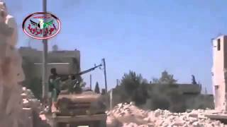 08 12 2013 FSA Rebel Shooting At Aircraft in Homs , Syria