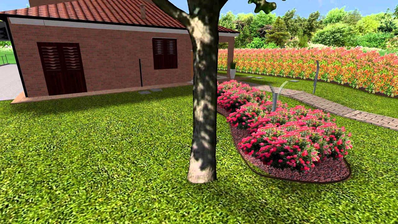 Giardino moderno in villetta a schiera youtube for Giardini in villette