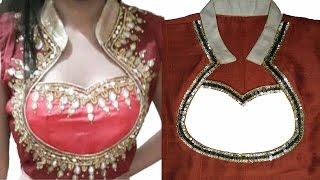 How To Cut And Stitch Designer Choli   Blouse Neckline   Kurti Neckline