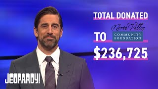 Final Jeopardy!: Aaron Rodgers' Last Show & Charity Total | JEOPARDY!