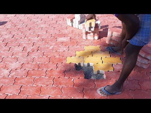 Church parking Area-fantastic design Paver blocks installation process in india