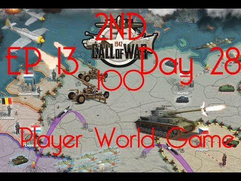 Call of War 1942 2ND 100 Player Fan Game, Day 28/29 EP13, WARNING LOUD INTRO