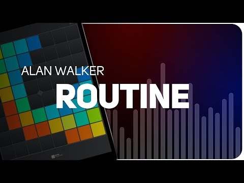 Playing ROUTINE | ALAN WALKER on SUPER PADS LIGHTS - Launchpad - KIT CONNECTING