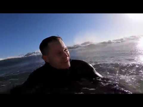 Surfing Pismo Beach Cold February 2019 GoPro HERO7