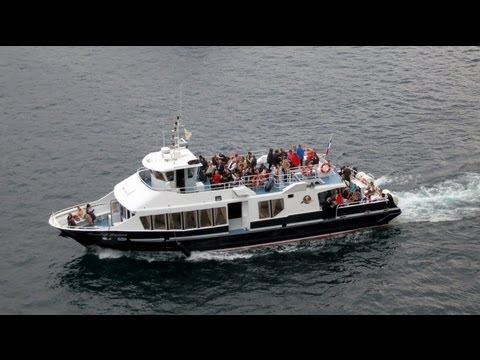 Mediterranean Cruise, tendering in Villefrance
