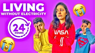 LIVING WITHOUT ELECTRICITY for 24 Hours | Rimorav Vlogs