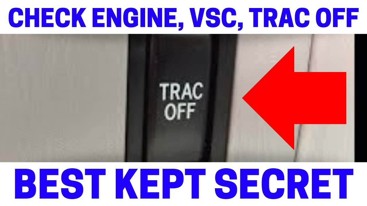 Part 6 How To Fix Your Check Engine Vsc Trac Off Warning Lights Toyota Harrier Fuse Box Location On