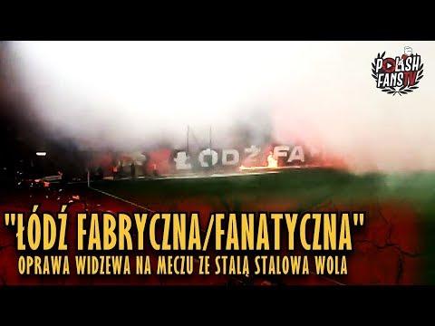 """""""ŁÓDŹ FABRYCZNA/FANATYCZNA"""" - oprawa Widzewa na meczu ze Stalą Stalowa Wola (01.12.2018 r.)"""