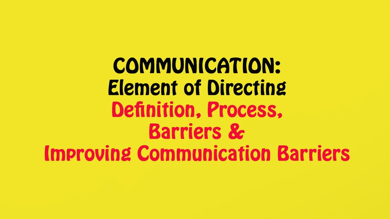 define communication what are the barriers Us national library of medicine (400 / 1 vote) rate this definition: communication barriers those factors, such as language or sociocultural relationships, which interfere in the meaningful interpretation and transmission of ideas between individuals or groups.