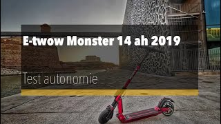 E-twow Monster 14 Ah 2019, test d'autonomie