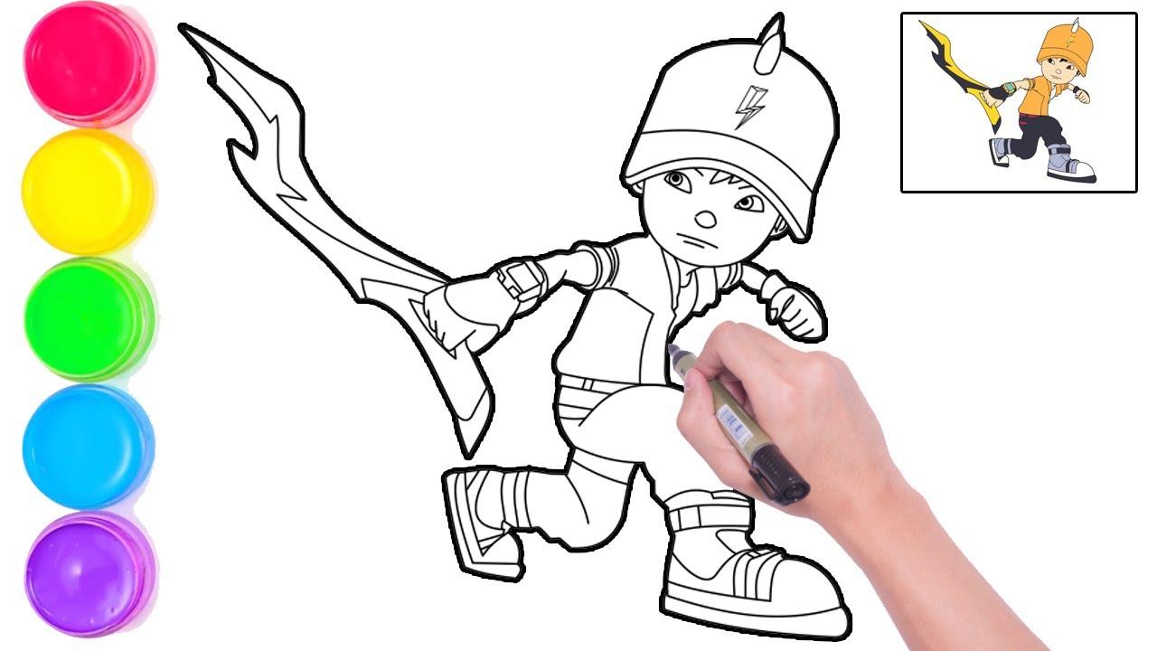 Keren Bagus Menggamabar Dan Mewarnai Boboiboy Thunderstorm Untuk Anak Anak Terbatu Mudah Cara Hebat Di 2021 Rabab Minangkabau