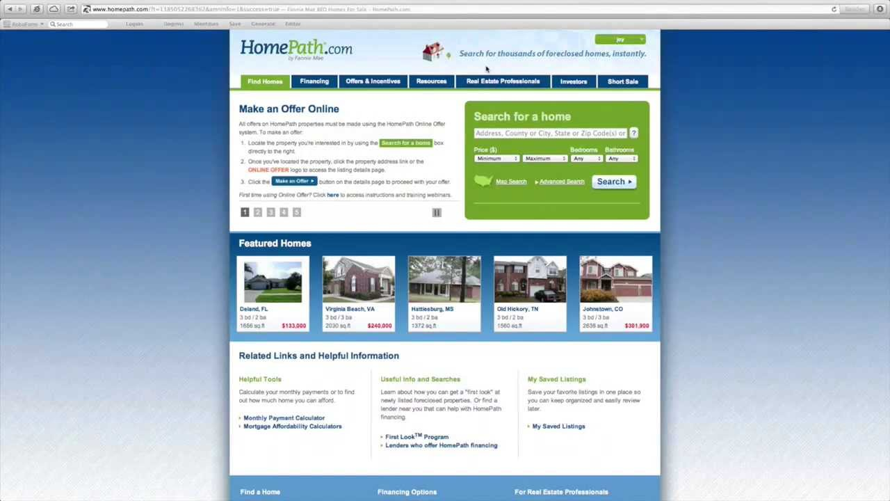 How To Submit An Offer On The Fannie Mae Homepath Website