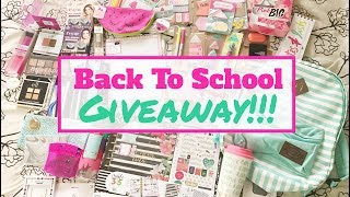 *Closed* Back to School Giveaway 2017- Open Internationally!!!