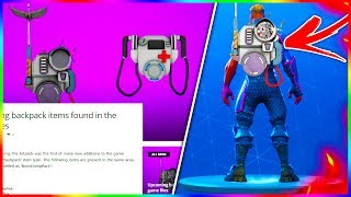 "New ""INTEL PACK"" Storm TRACKER & ""MEDIC PACK"" HEALER Items *LEAKED"" In Fortnite!"