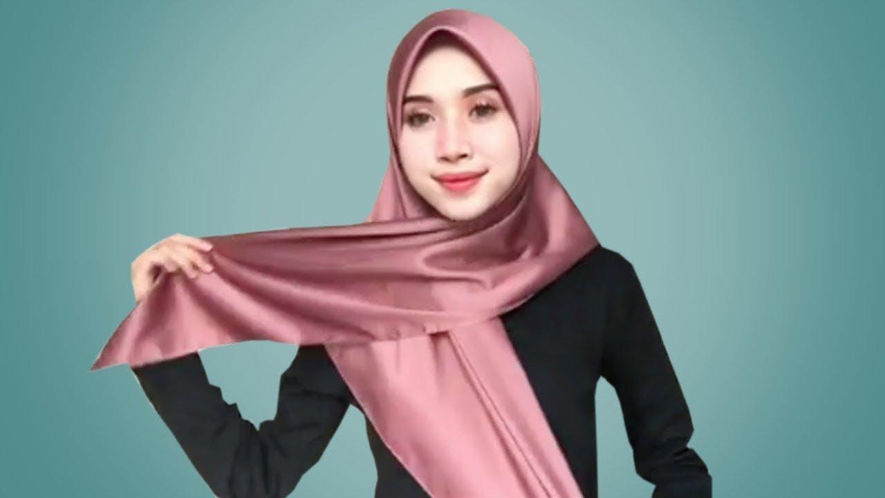 12 Tutorial Hijab Segi Empat Paling Simple Cantik Kekinian Youtube