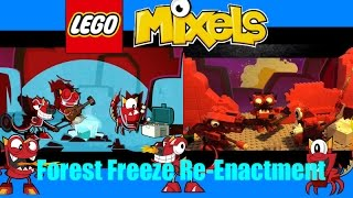 Lego Mixels Forest Freeze Re-enactment (100 video and 200 subscriber special)