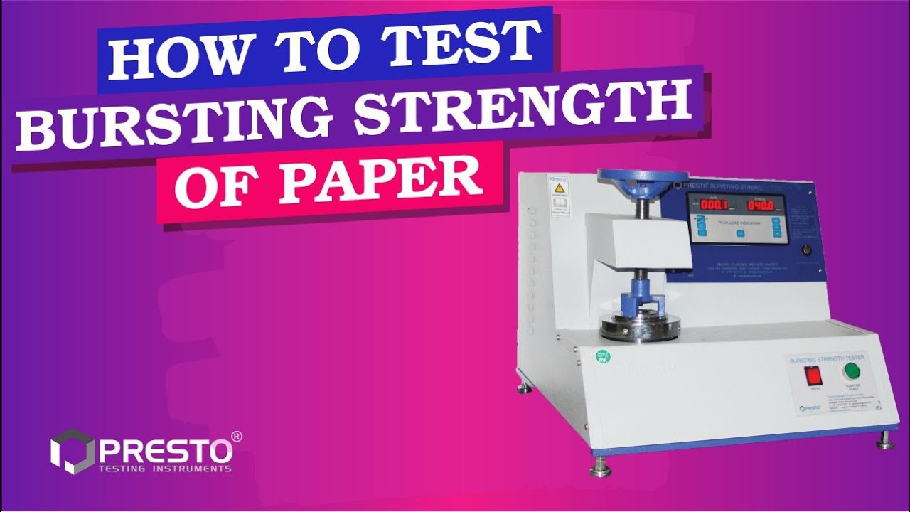 How To Test Bursting Strength of Paper & Corrugated Boxes