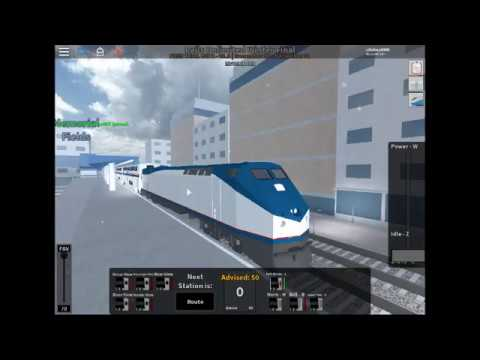 Roblox Amtrak Roblox Rails Unlimited Driving The Brand New Amtrak Train To Pinewood Youtube