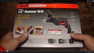 """Drillmaster 120v 1/2"""" Hammer Drill Unboxing And Review Item #69947"""