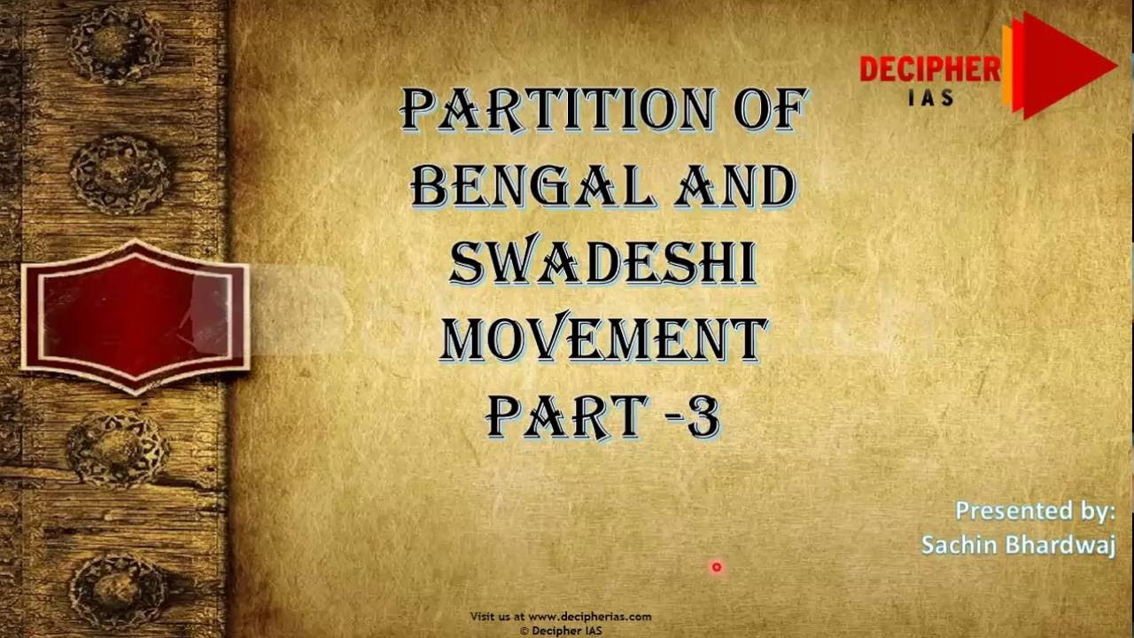 Essay on the Importance of Swadeshi Movement in Indian National Movement