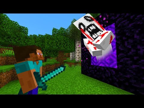 This entity came out of my Minecraft portal.. (SCARY)