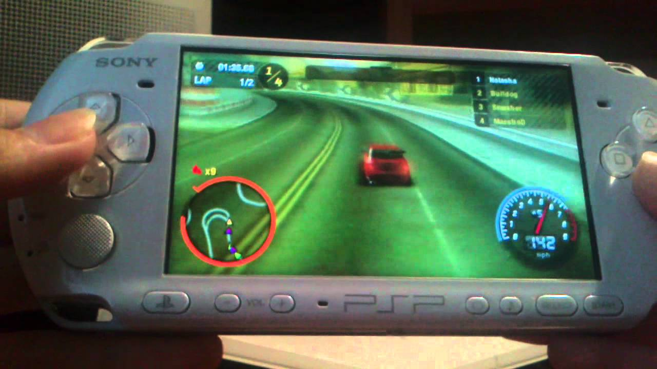 обзор игры на psp need for speed - YouTube