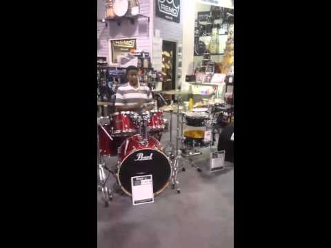friends and I jamming in the music store part 1