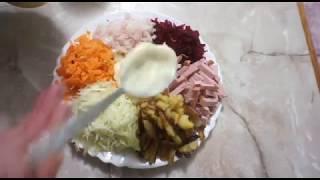 Салат из свежих овощей зимой - Ромашка