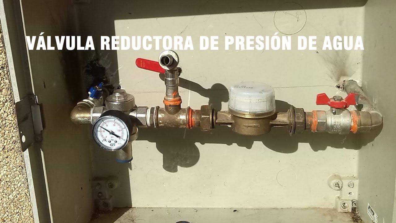 Valvula reguladora de presion de agua domestica