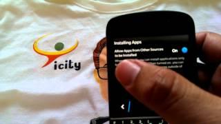Ijin penginstalan aplikasi dari sumber non Blackberry World