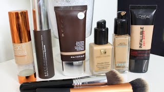My Favorite Drugstore & High End Foundations Oily & Acne Skin