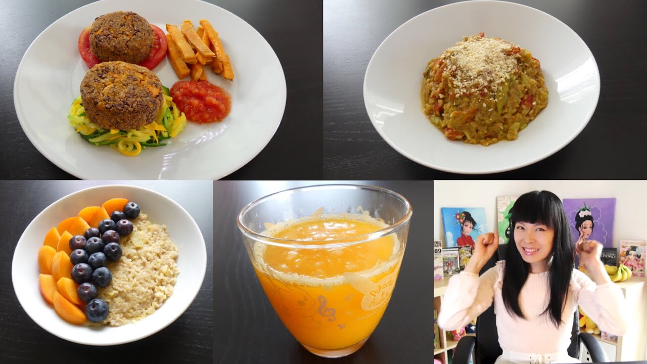 What I eat in a day #3 [Vegan] Cuisine maison : Mes risotto & burger, Une journée dans mon assie