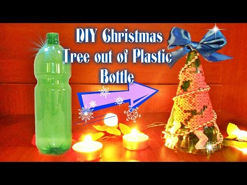 DIY Christmas Tree out of Plastic Bottle / Bottle Embroidering / Ёлка из пластиковой бутылки