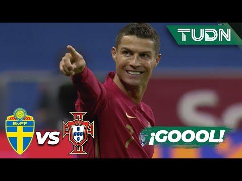 ¡GOLAZO! Cristiano Ronaldo anotó su gol 100 | Suecia 0-1 Portugal | UEFA Nations League 2020 | TUDN