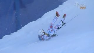 Roger and Poisson crash in Downhill - Universal Sports