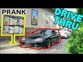 REVERSING IN A DRIVE THRU WITH RIGHT HAND DRIVE PRANK (TOYOTA SUPRA)