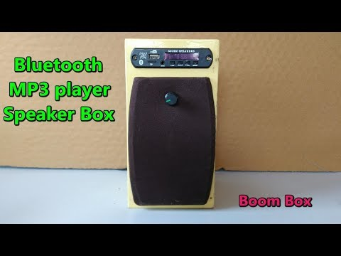 (part 5) Bluetooth speaker box assembling (SD card, AUX, FM radio MP3 player)