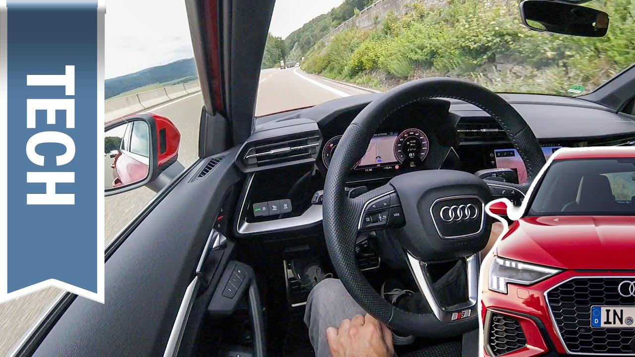 Adaptiver Fahrassistent & Assistenzpaket im Audi A3 2020 8Y im Test & Vergleich Golf, Leon & Octavia