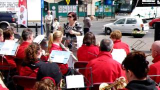 Limericks Boherbuoy Brass and Reed Band playing in Arthurs Quay Park