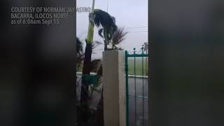 Typhoon Ompong: Bacarra, Ilocos Norte as of 6:06am