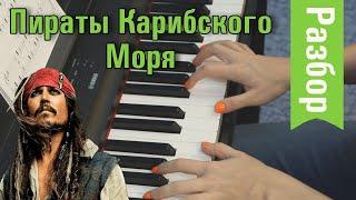 Мелодия из пиратов Карибского моря учиться играть на пианино 🎹